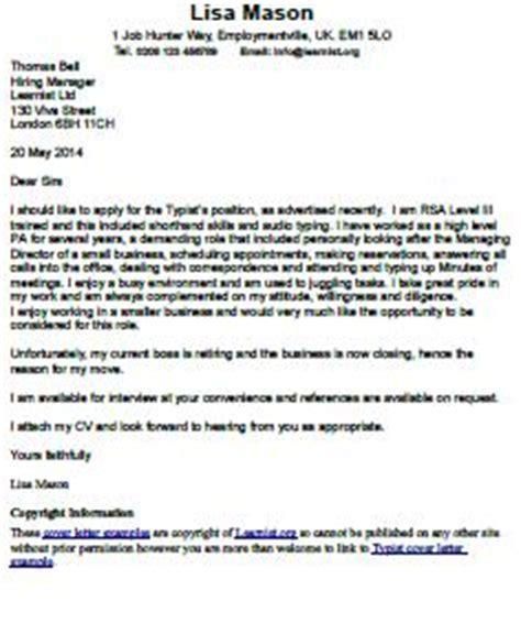 Supervisor job application cover letter